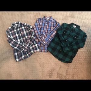 Lot of 3 Boy's Old Navy Button Down Shirts 10-12